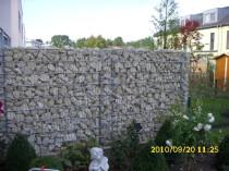 Gabionen Steinwand als Dekorativer Sichtschutz